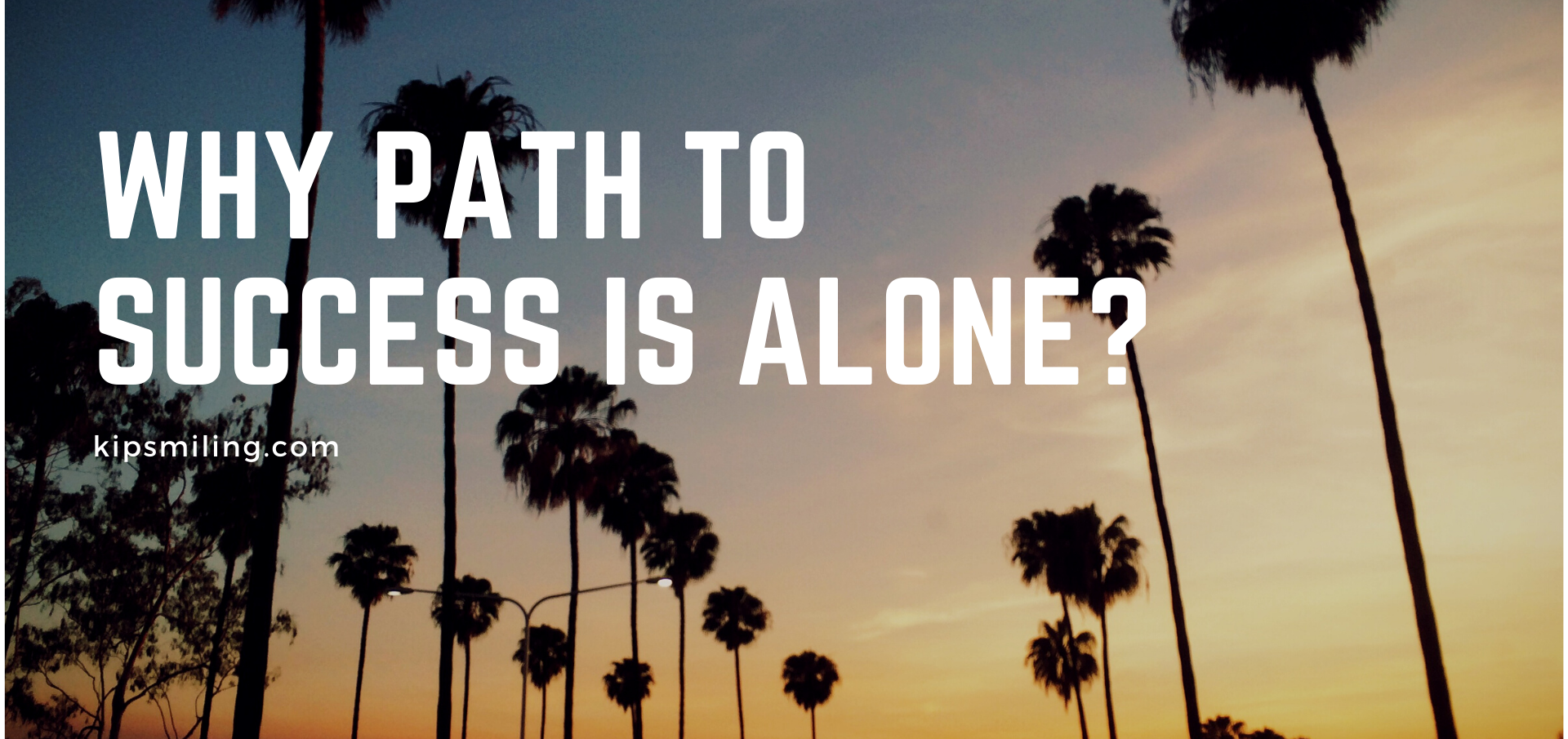 Why Path To Success Is Alone?